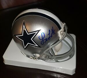 LEON-LETT-039-DALLAS-COWBOYS-039-3X-SUPERBOWL-CHAMP-SIGNED-MINI-HELMET-COA