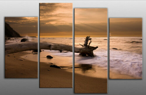 EXTRA LARGE CANVAS PICTURE SUNSET SEA 5 5 5 FEET WIDE MULTI 8c7125