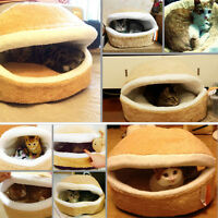 Detachable Pet Dog Cat Hamburger Shape Sleep Bed Nest Warm Cushion House B2