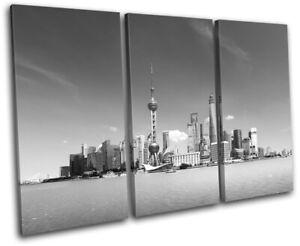 Shanghai-China-Asia-Skyline-City-TREBLE-CANVAS-WALL-ART-Picture-Print