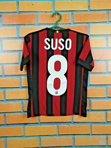 Suso Milan Jersey 2017 2018 Home Youth 9-10 Shirt Adidas Football Soccer AZ7066