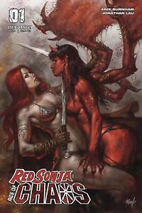 RED SONYA AGE OF CHAOS #1 cover variant di PARRILLO - in inglese