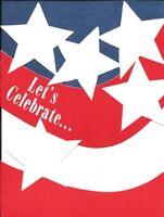 Patriotic American Flag Stars & Stripes Party Invitations By Hallmark - Set Of 8