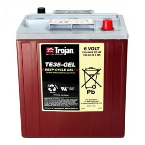 BATTERY-TROJAN-RENEWABLE-ENERGY-6V-SOLAR-210-Ah-Gel-Each