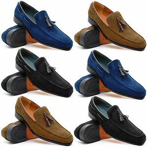 mens new slip on loafers tassel shoes smart casual dress