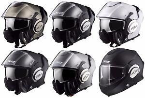 Ls2 Ff399 Valiant Flip Over Flip Front Fullface Motorcycle Motorbike Helmet
