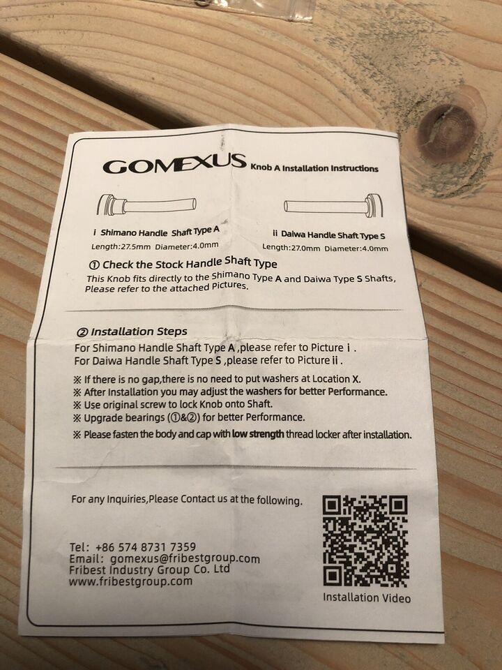 Fastspolehjul, Gomexus