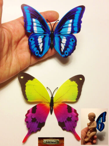 M00079-A06 MOREZMORE 2 Mini Fairy Magnet Butterfly Wings for OOAK Doll Baby A60