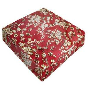 GP-610-BLOSSOM-RED-Best-Brocade-Silk-Bench-Box-Seat-Cushion-Cover-Chair-Throw
