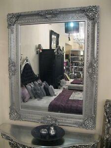 Silver Ornate Large Vintage Floor French Leaner Statement