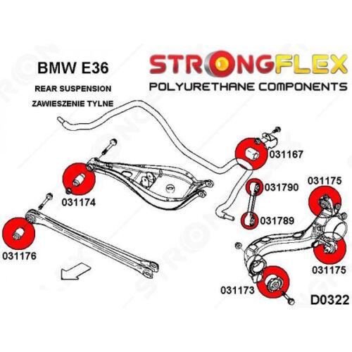 BMW E36 kit de silentblocs de suspension arrière