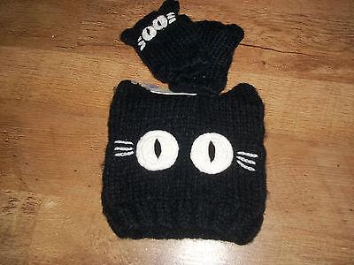 Ragionevole Per Bambina Next Black Cat Beanie Cappello Guanti Set Di 3-6 Anni Con Etichette Nuovo Di Zecca X-mostra Il Titolo Originale