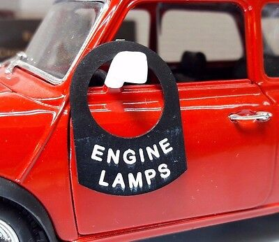 Classic Vintage Car Metal Switch Tab Badge Decal Label Screen Demist Demister