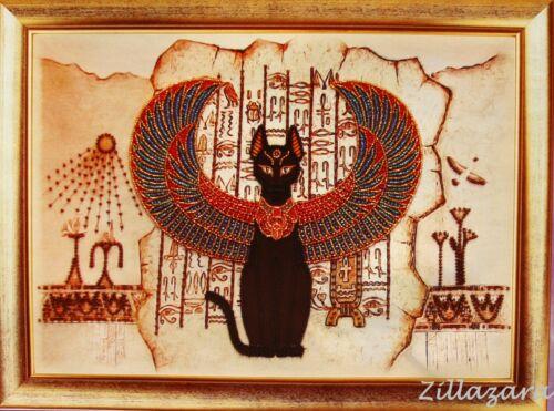 Egipcio gato Stick envase Stick imagen stickset imagen bordar con perlas 723