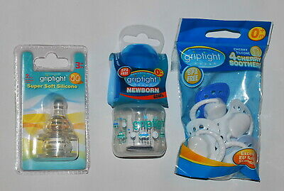 60ml Newborn Standard Neck Feeding Bottle 1 Bottle, Blue Griptight
