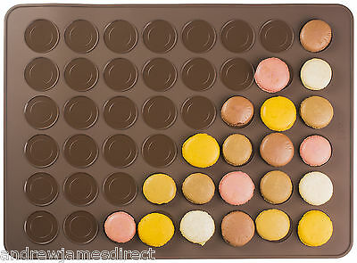 Andrew James Macaron Baking Mat Non Stick Silicone with 48 Macaroon Moulds