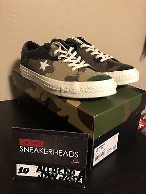 Exclusive Converse x Sneakersnstuff One Star SNS Brown Camo 161406C Size 10 | eBay