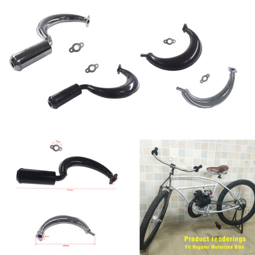 Muffler Exhaust Pipe For 80cc 66cc 49cc Motorized Bicycle Bike Engine Parts New
