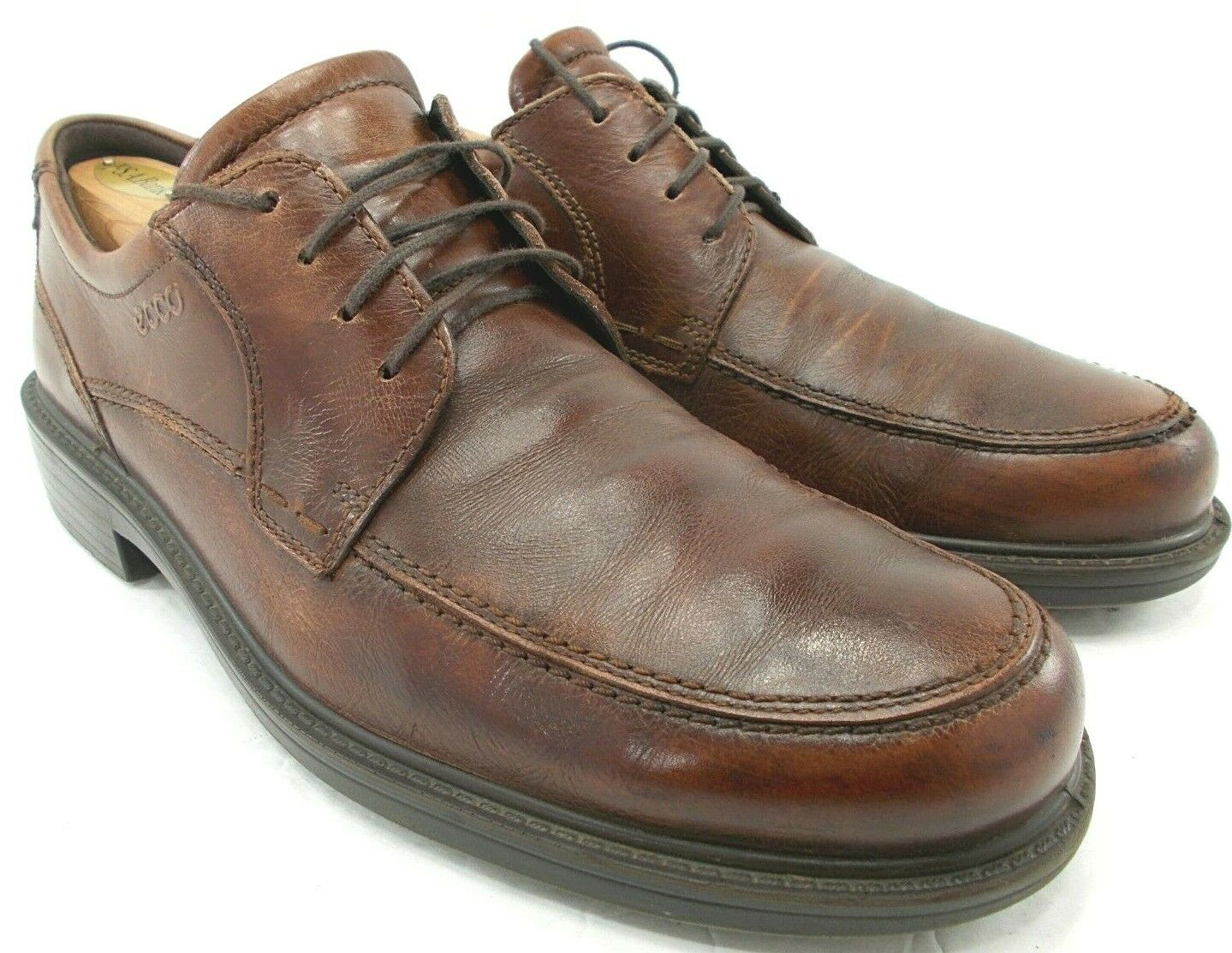 ECCO Mens Brown Leather Oxfords Lace Up Dress shoes Size US 10-10.5 A0320