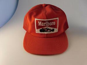 Vintage-1970s-Marlboro-Racing-Patch-Snapback-Cap-Formula-One-F1-IndyCar-Trucker