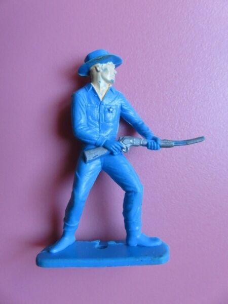 Logique 076 - Sheriff Avec Carabine - Plastique Trois Couleurs Nous Prenons Les Clients Comme Nos Dieux