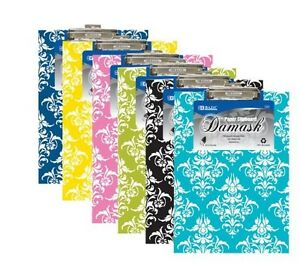 BAZIC Standard Size Damask Paperboard Clipboard with Low Profile Clip Wholesale