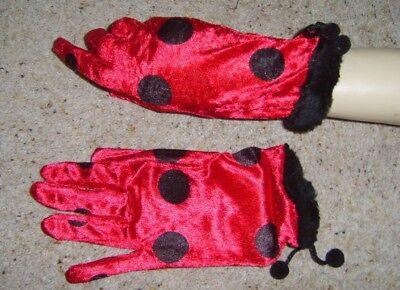 Fornito Donna Velour Coccinella Ladybug A Pois Guanti Insetti Bug Costume-mostra Il Titolo Originale I Prodotti Sono Venduti Senza Limitazioni