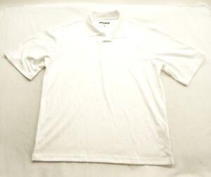 New-Cypress-Club-Mens-Casual-White-Short-Sleeve-Performance-Polo-Shirt-Sz-Large