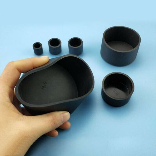 Black Silicone Rubber Chair Table Feet Pipe Tubing End Cover Caps ID 32.5~78.5mm