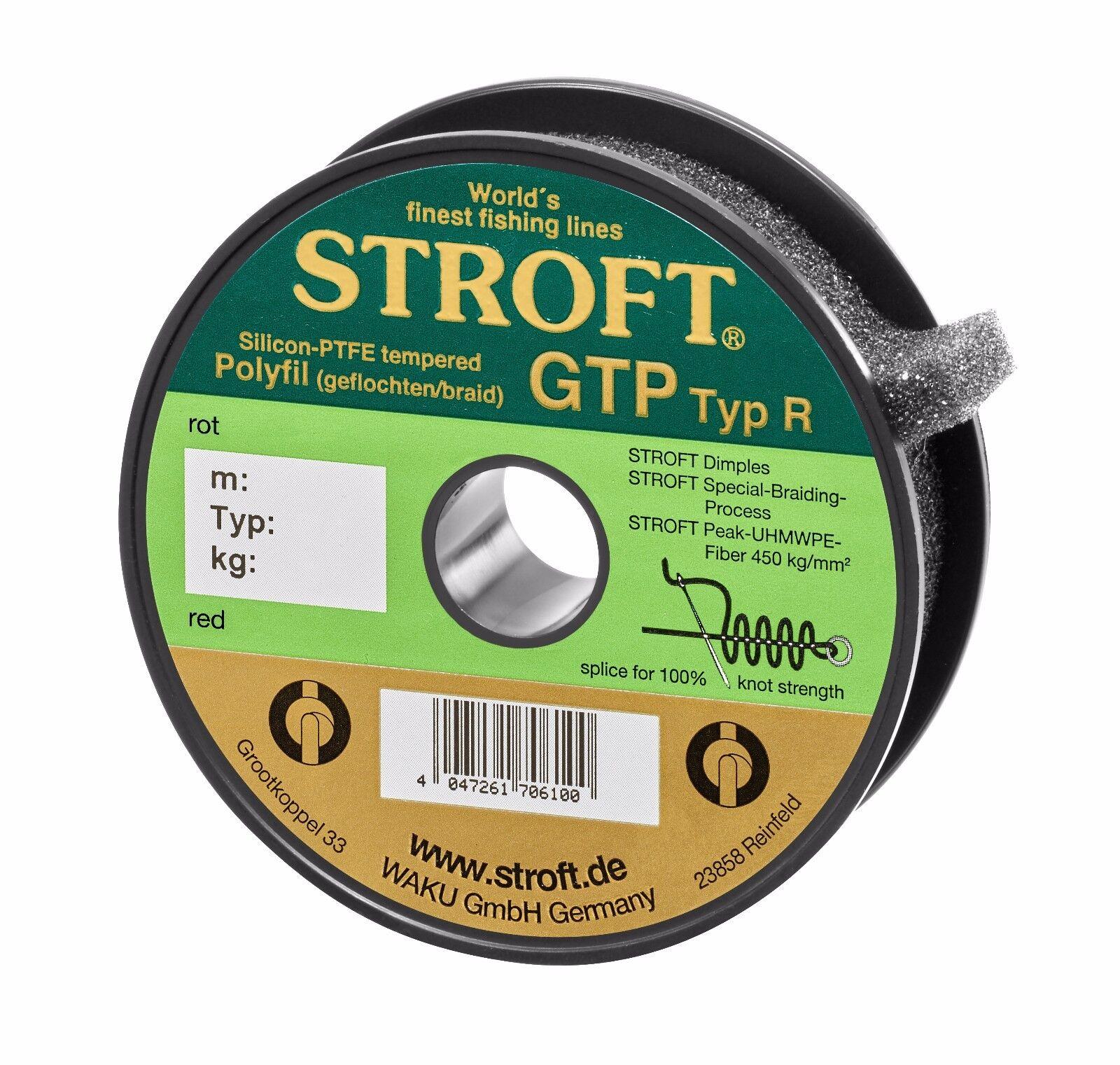 Angelschnur STROFT GTP Typ R Rot 100m 250m 250m 250m 500m 1000m Geflochtene Schnur bed3e6