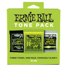 Ernie Ball Tone Pack Electric Guitar String Regular Slinky Cobalt M-Steel 10-46
