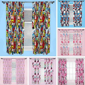 Image Is Loading Childrens Character Themed Curtains Cartoon Super Heroes  Marvel