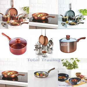 Antiadherente-cermalon-Ceramica-Sarten-Cacerola-Sarten-De-Cobre-Conjunto-de-Induccion-Gas-Pro