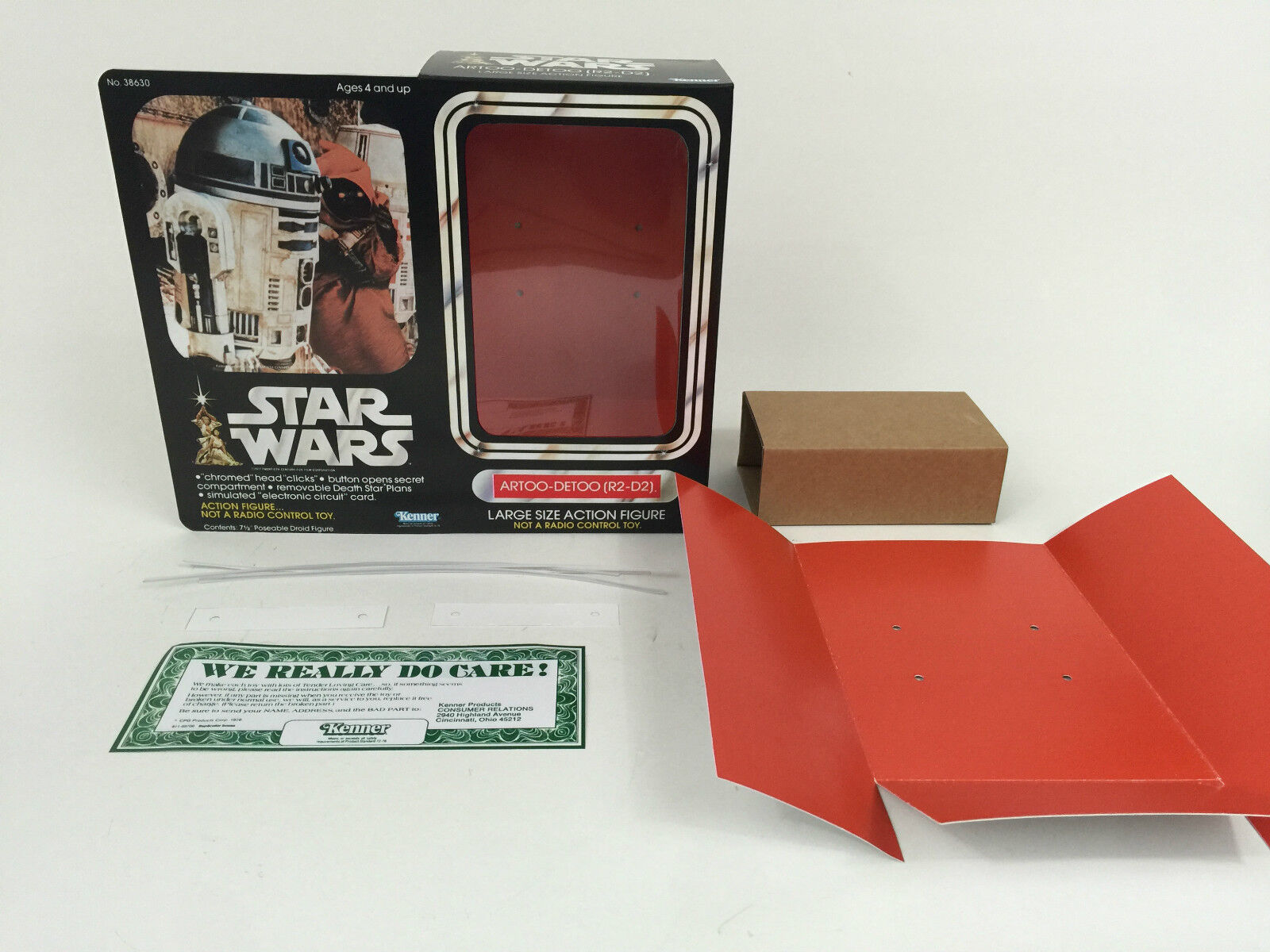 Replacement vintage star wars 12  r2-d2 box + inserts