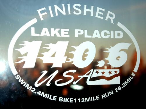 2019 OR Any year Ironman Lake Placid Triathlon  Finisher Decal Sticker