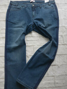 Sheego-Stretch-Jeans-Trousers-Lana-Size-42-to-58-Blue-Blue-Stripes-on-Side-430