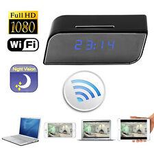 HD 1080P Wireless Wifi IP Clock Camera Motion Detect Night Vision Nanny Web Cam
