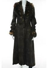 PELLESSIMO PARIS Genuine Mink Fox Rabbit Fur Leather Coat Sz 3