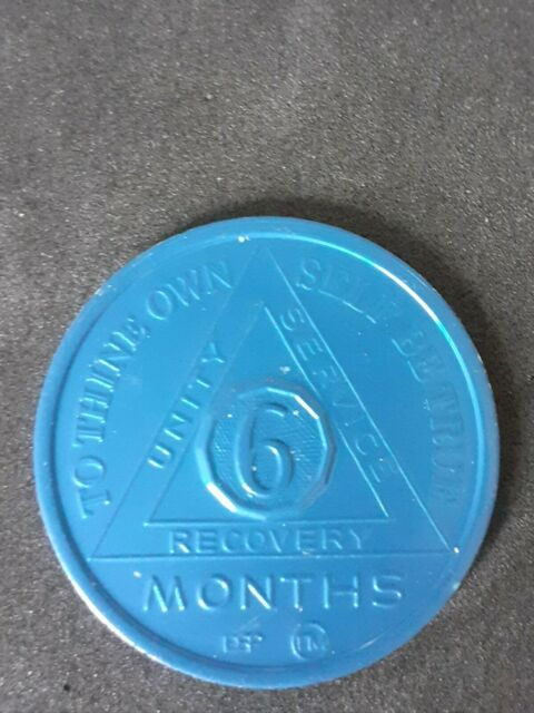 Alcoholics Anonymous 6 Month Recovery Coin Chip Medallion Medal Token AA  Bronze for sale | eBay