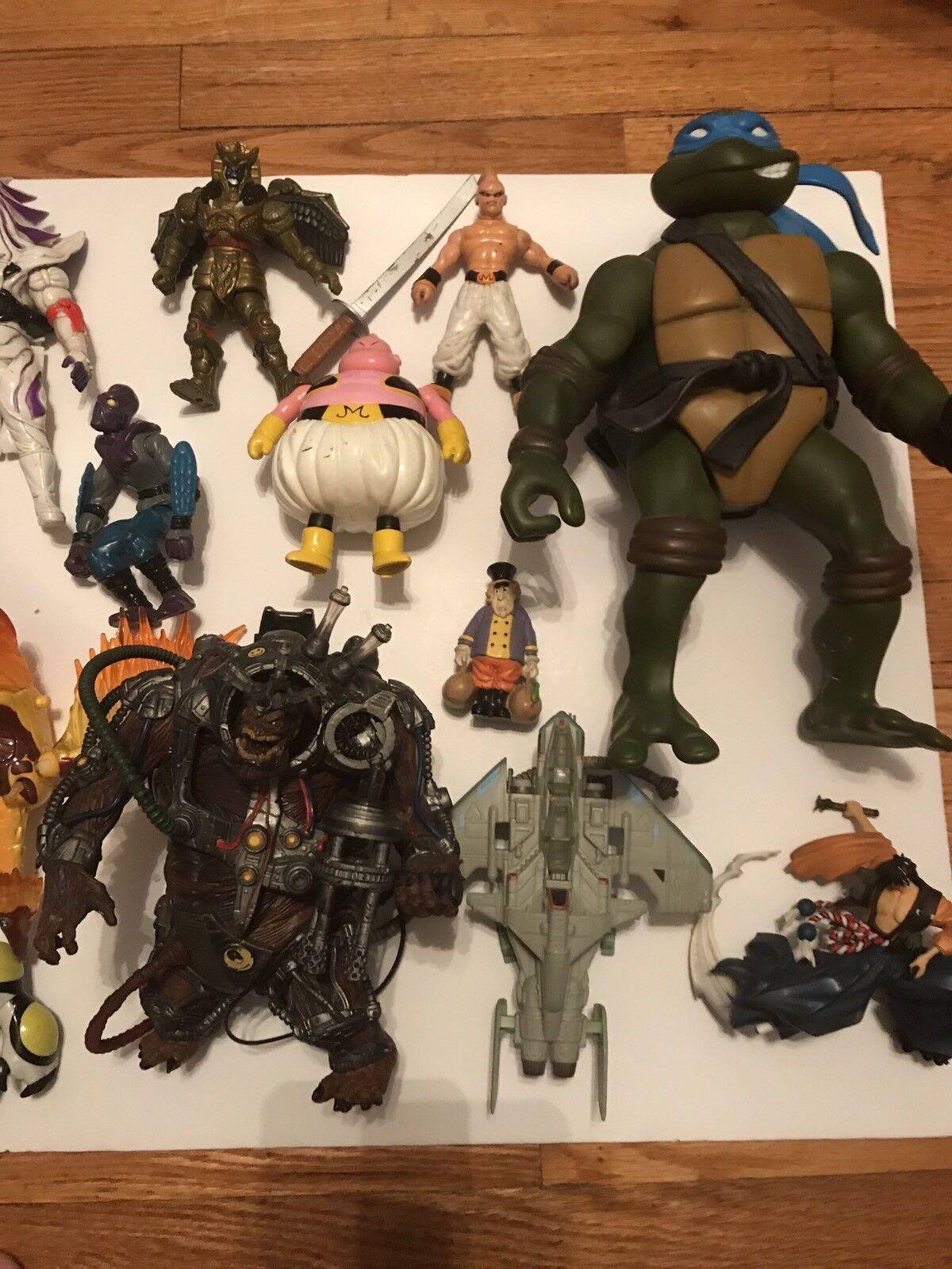 TMNT Ben 10 10 10 DBZ Power Rangers Action Figures Mixed Lot 80's 90's & 2000's 1e7f81