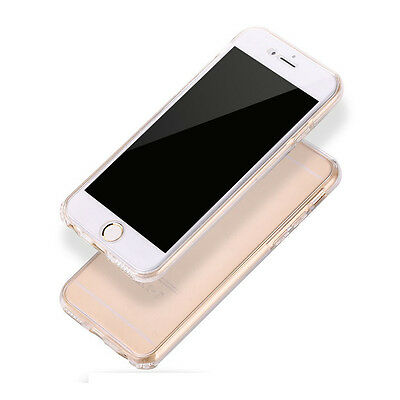 360° Ultra-Thin Clear Phone Case Cover Soft Silicone TPU Shockproof For iPhone