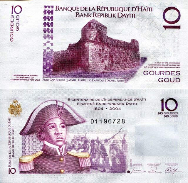 Haiti 10 Gourdes Banknote World Paper Money Unc Currency Pick P272b 2006 Bill