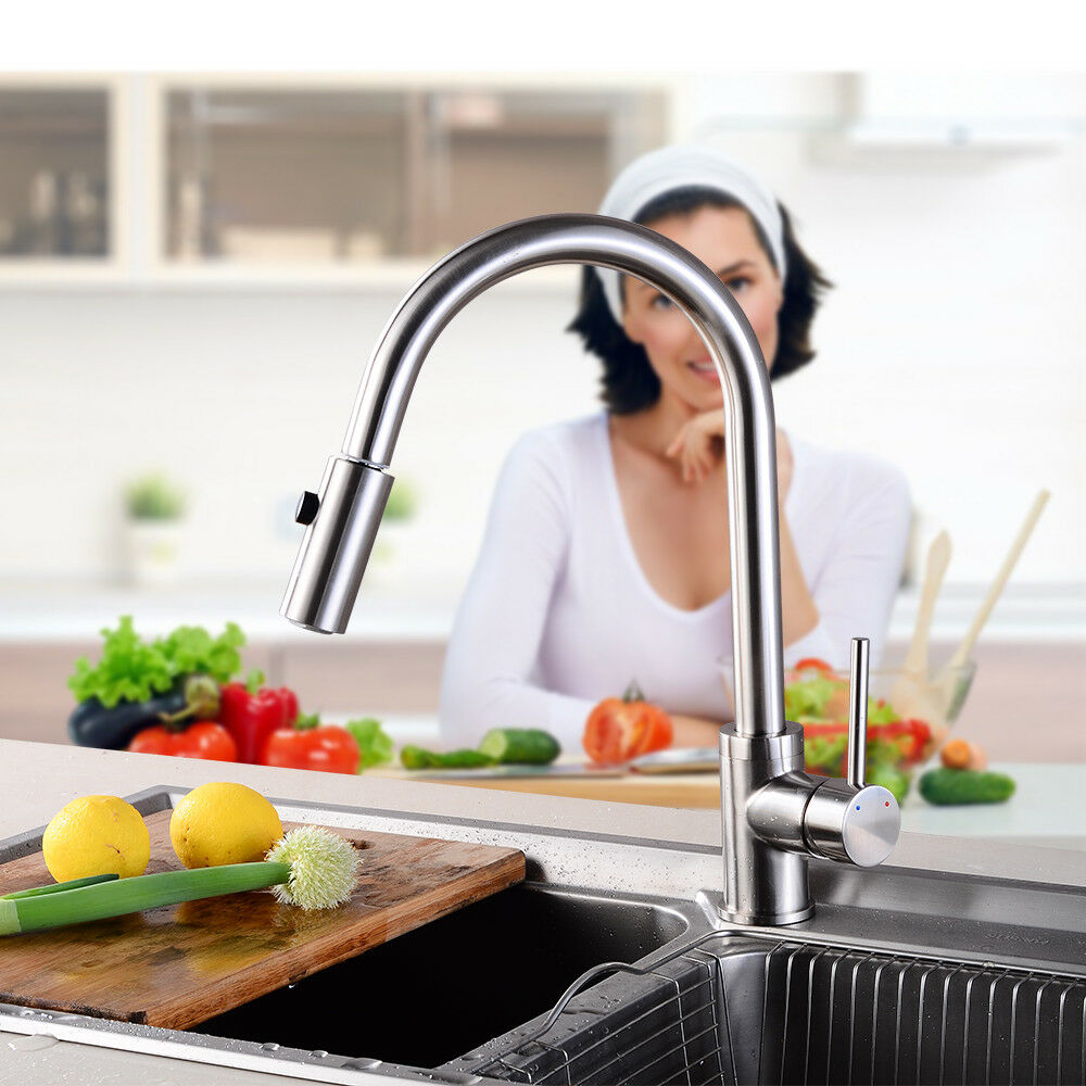 Ausziehbar Ausziehbar Ausziehbar Küchenarmatur Einhebelmischer Wasserhahn Armatur Küche Spültisch DEU | Exzellente Verarbeitung  | Gutes Design  | Erste Klasse in seiner Klasse  | Niedrige Kosten  a06843