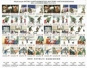 s26896) SWEDEN 1983/84 MNH** Tubercolosis Christmas Sheet God Helg cinderella