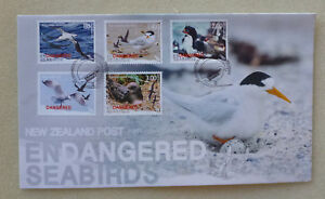 2014-NEW-ZEALAND-ENDANGERED-SEABIRDS-SET-OF-5-STAMPS-FDC-FIRST-DAY-COVER