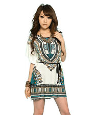 Women's Bohemia Style Sleeve Printing Plus Size Short-Sleeve T-shirt Dress New