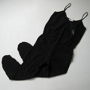 NWT Parker Liv Jumper in Black Surplice Silk Cropped Tank Jumpsuit M