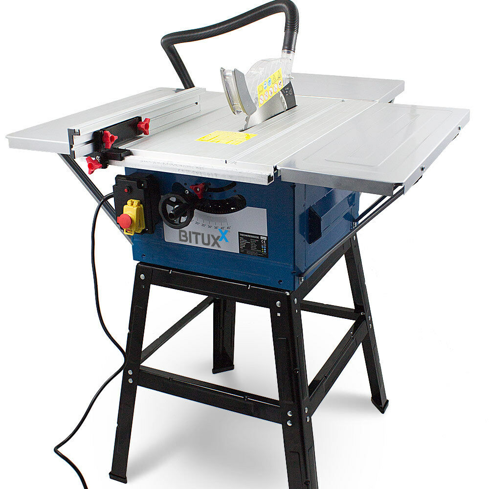 BITUXX® Tischkreissäge Kreissäge Heimwerker 1800 Watt Tischsäge inkl. Gestell