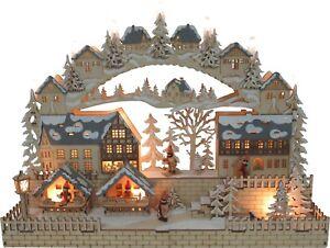 Led arco di luci applique finestra villaggio invernale mercatino
