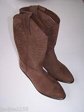 70er   Vintage Bill Montana Stiefel Westernstiefel Größe 38 braun Leder  Nr.945